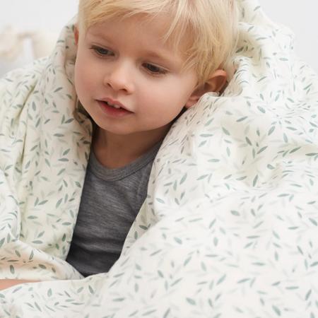 CamCam® Danish Junior Bedding GOTS Green Leaves Junior 100x140, 45x40