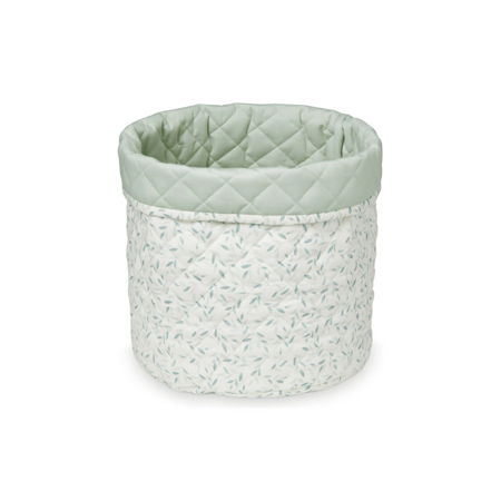 CamCam® Quilted Storage Basket Green Leaves