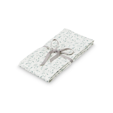 CamCam® Light Muslin Swaddle GOTS Green Leaves 120x120