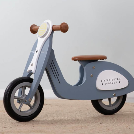 Picture of Little Dutch® Scooter hout Dark Blue