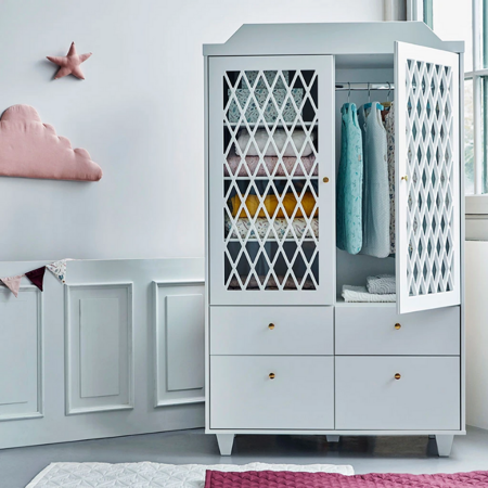Picture of CamCam® Harlequin Wardrobe White