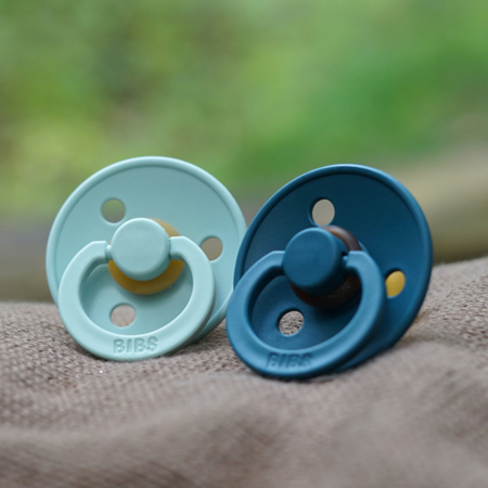 Picture of Bibs® Natural Rubber Baby Pacifier Nordic Mint & Forest Lake 1 (0-6m)