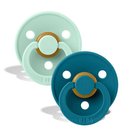 Bibs® Natural Rubber Baby Pacifier Nordic Mint & Forest Lake 2 (6-18m)
