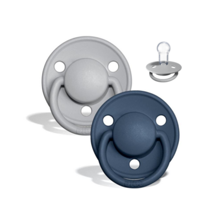 Picture of Bibs® Baby Pacifier De Lux Silicone Cloud & Steel Blue (0-36m) (0-36m)
