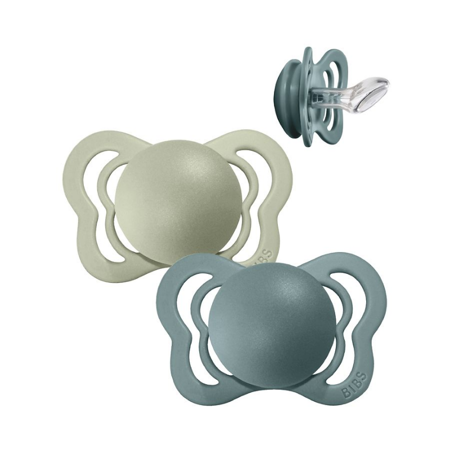 Picture of Bibs® Baby Pacifier Couture Silicone Island Sea & Sage  2 (6-36m)