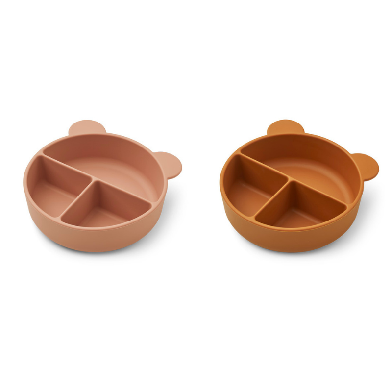Picture of Liewood® Connie divider bowl 2-pack Dark rose/Mustard Mix