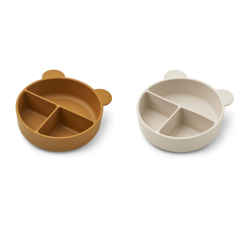 Picture of Liewood® Connie divider bowl 2-pack Golden Caramel/Sandy Mix