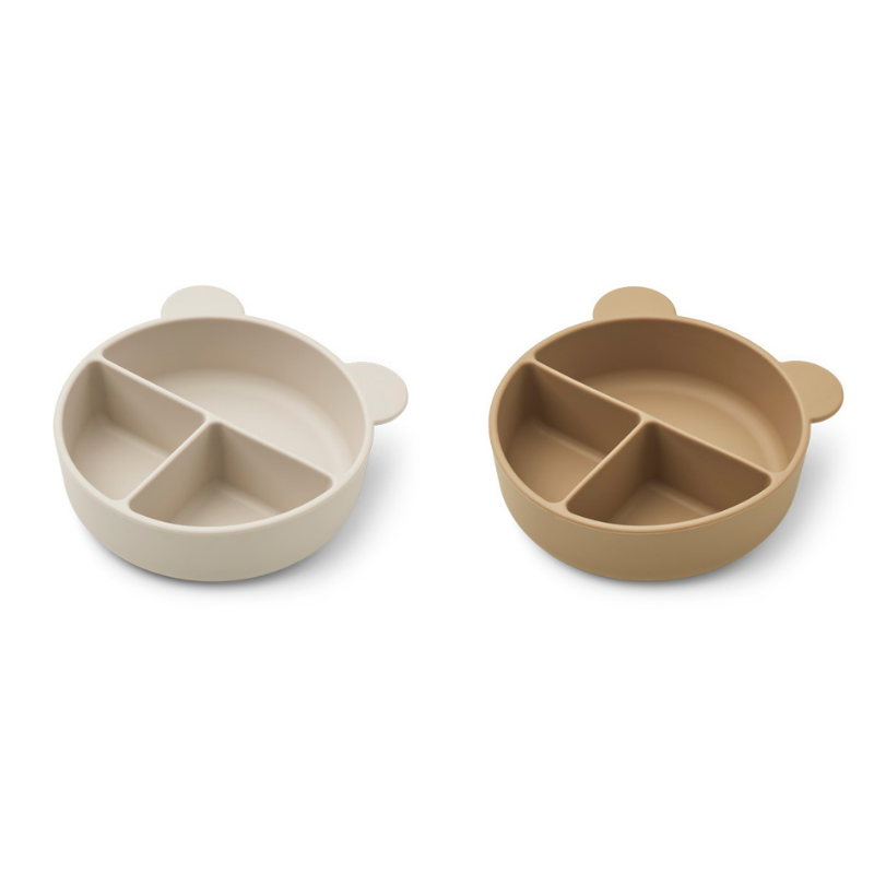 Picture of Liewood® Connie divider bowl 2-pack Golden Sandy/Oat Mix