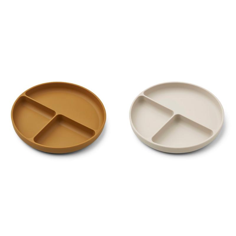 Picture of Liewood® Harvey divider plate 2-pack Golden Caramel/Sandy Mix