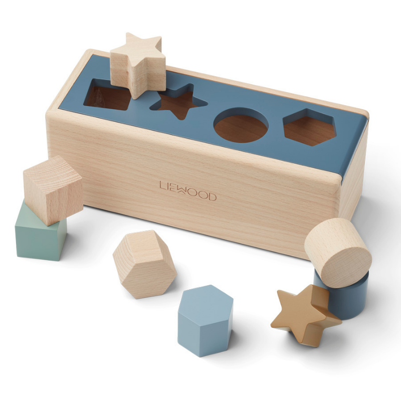 Picture of Liewood® Midas Puzzle Box Geometric Whale Blue Multi Mix