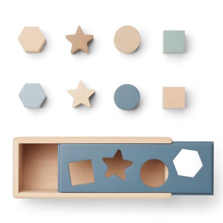 Liewood® Midas Puzzle Box Geometric Whale Blue Multi Mix
