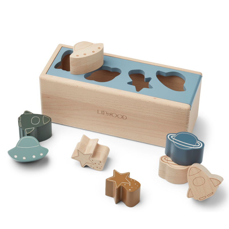 Picture of Liewood® Midas Puzzle Box Space Blue Fog Multi Mix