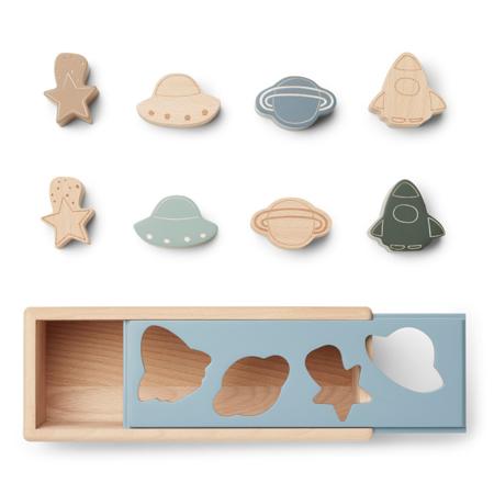 Liewood® Midas Puzzle Box Space Blue Fog Multi Mix