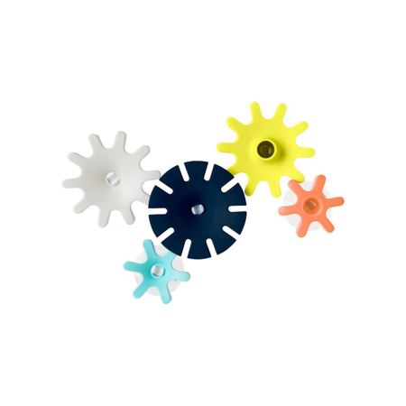 Picture of Boon® Building Bath Toy Set Cogs Navy/Yellow
