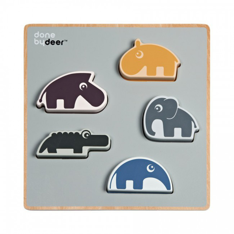 Picture of Done by Deer®  Chunky play puzzle Deer friends
