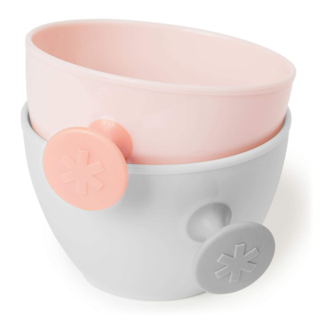 Picture of Skip Hop® Easy-Grab Bowls Grey/Soft Coral