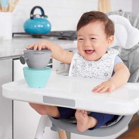 Picture of Skip Hop® Easy-Grab Bowls Grey/Soft Teal