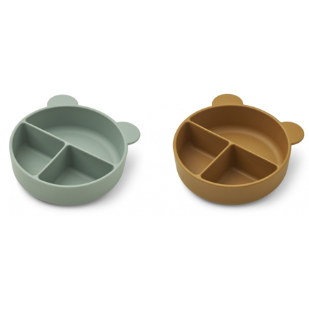 Picture of Liewood® Connie divider bowl 2-pack Peppermint/Golden Caramel Mix