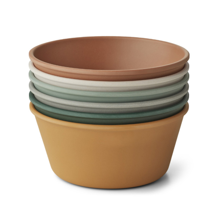 Picture of Liewood® Irene bowl 6-pack Mustard Multi Mix