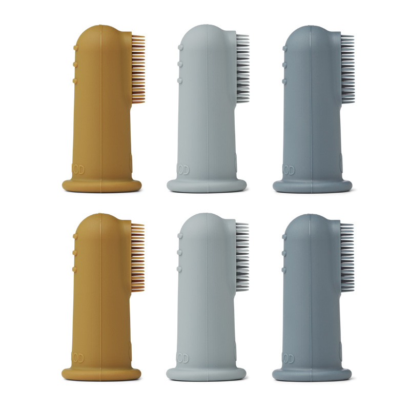 Picture of Liewood® Simon finger toothbrush 6-pack Blue Multi Mix