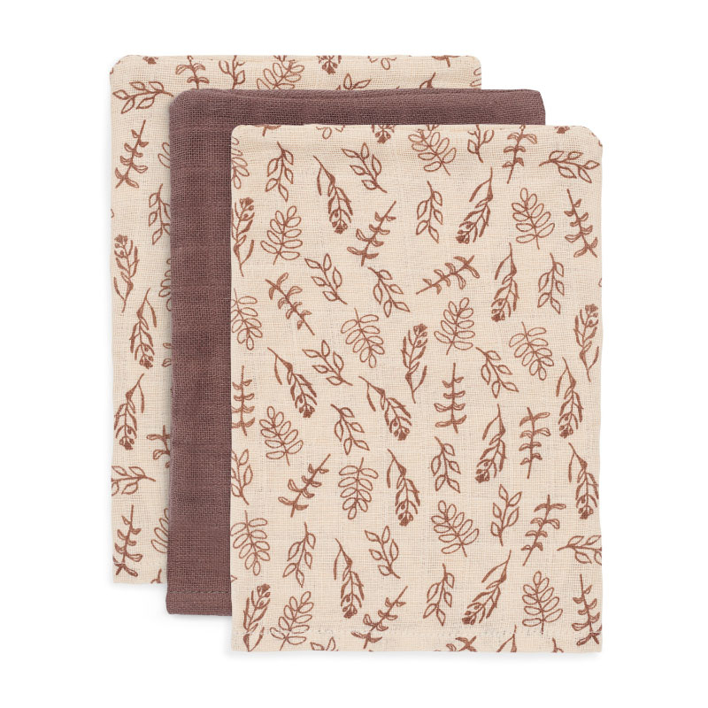 Picture of Jollein® Washcloths Hydrophilic Meadow Chestnut (3pack)
