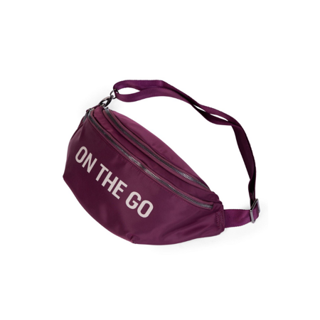 Childhome® Banana bag On the Go Hip Bag Aubergine
