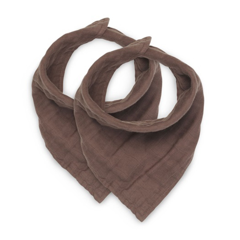 Picture of Jollein® Bib bandana wrinkled cotton Chestnut (2pack)