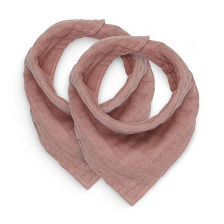 Picture of Jollein® Bib bandana wrinkled cotton Rosewood (2pack)