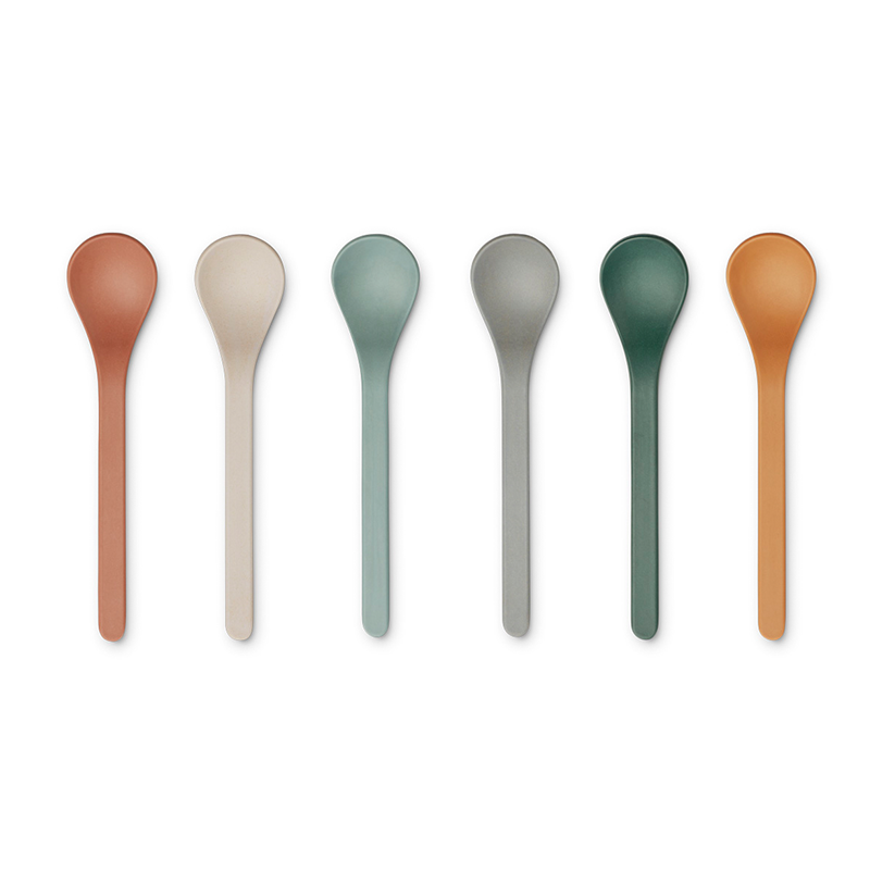 Picture of Liewood® Set of spoons Erin 6 pieces Mustard Multi Mix