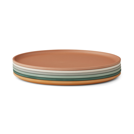 Picture of Liewood® Set of Logan Plates 6 Pack - Mustard Multi Mix