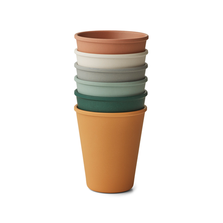 Picture of Liewood® Carter Cup 6 Pack - Mustard Multi Mix