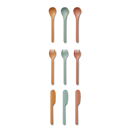 Picture of Liewood®  Cutlery Set 9 Pack Ryan Mustard Multi Mix
