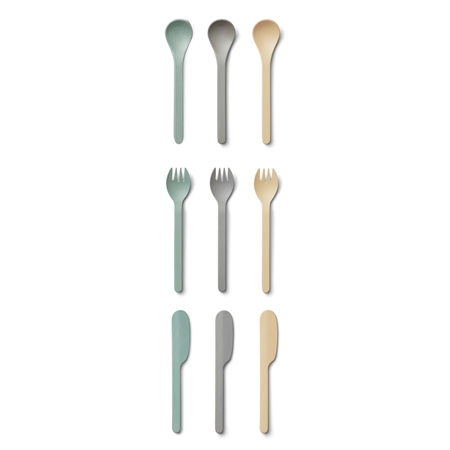 Picture of Liewood®  Cutlery Set 9 Pack Ryan Peppermint Multi Mix