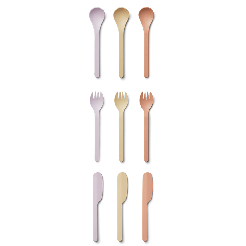 Picture of Liewood®  Cutlery Set 9 Pack Ryan Light Lavender Multi Mix