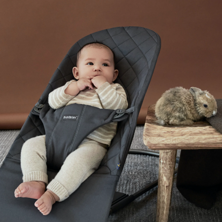 BabyBjörn® Bouncer Balance Bliss Cotton Classic Quilt Anthracite