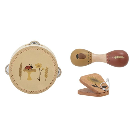 Bloomingville®  Musical Instrument set Brown