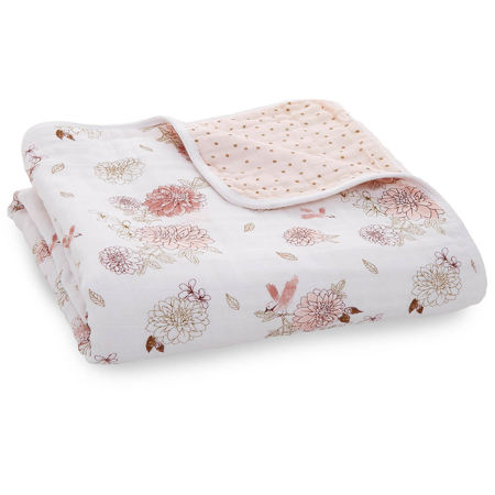 Picture of Aden+Anais® Classic Dream Blanket Dahlias 120x120