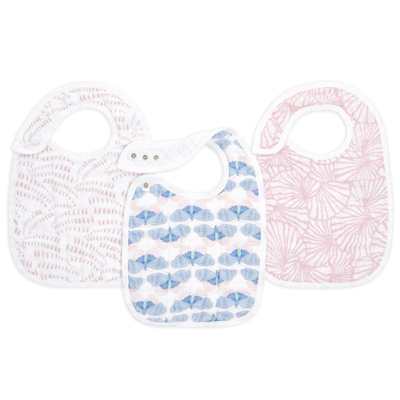 Picture of Aden+Anais® Cotton muslin snap bibs 3 pack Deco