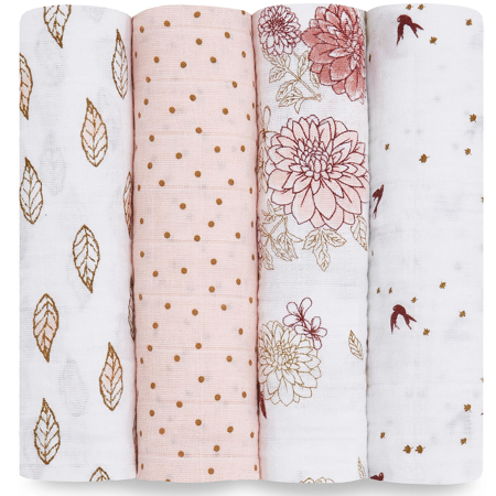 Picture of Aden+Anais® Classic Swaddle Set 4-Pack Dahlias (120x120)