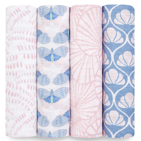 Picture of Aden+Anais® Classic Swaddle Set 4-Pack Deco (120x120)