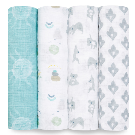 Picture of Aden+Anais® Classic Swaddle Set 4-Pack Now + Zen (120x120)