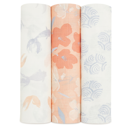 Picture of Aden+Anais® Silky Soft Swaddles 3-pack Koi Pond 120x120