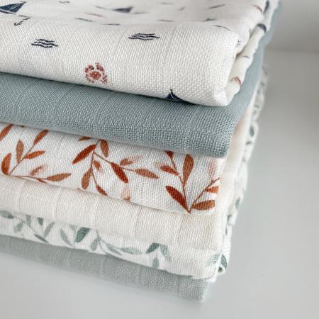 CamCam® Musling Cloth GOTS Caramel Leaves 70 x 70