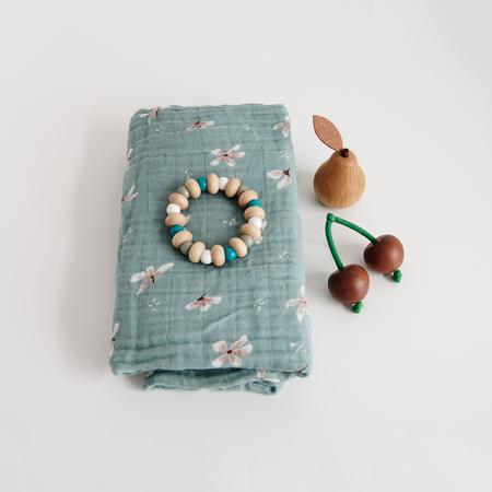 CamCam® Musling Cloth GOTS  Windflower Blue