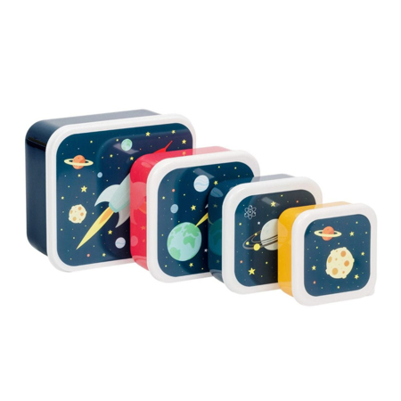 Picture of A Little Lovely Company® Lunch & snack box set Space