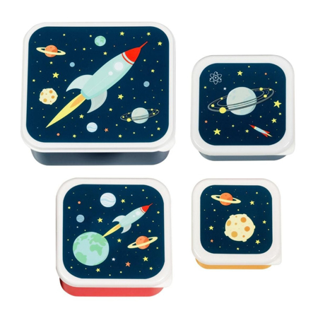 A Little Lovely Company® Lunch & snack box set Space