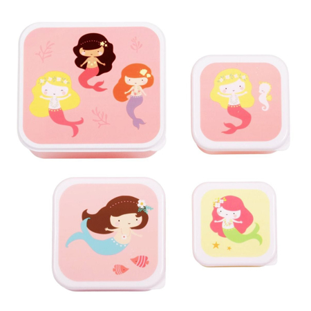 A Little Lovely Company® Lunch & snack box set Mermaids