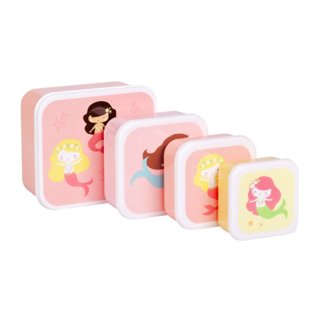 Picture of A Little Lovely Company® Lunch & snack box set Mermaids