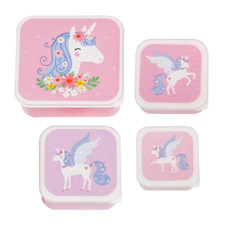 A Little Lovely Company® Lunch & snack box set Unicorn